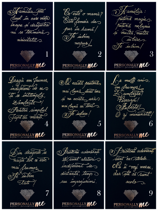 Felicitare caligrafiata mesaj special cadou sarbatori fericite 11