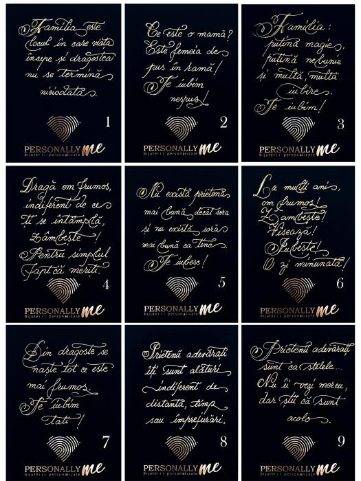 Felicitare caligrafiata mesaj special cadou zambeste [1]