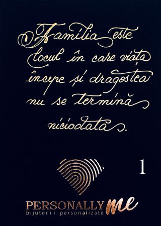 Felicitare caligrafiata cu mesaj special cadou - Familia: Putina magie, putina nebunie...2