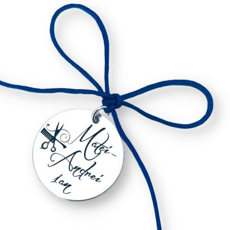 Banut argint personalizat mot sau botez un an nume simbol [0]