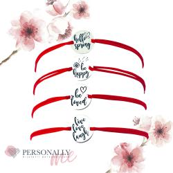 PROMO - Bratara argint gravata cu mesaje inspirationale sau simboluri0