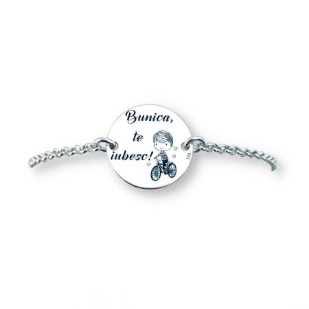 Bratara argint personalizata simbol Baietel cadou pentru Bunica [1]