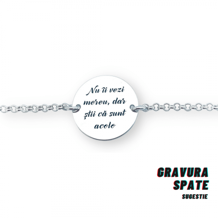 Bratara personalizata argint banut gravat Prieteni - Cadou BFF [2]