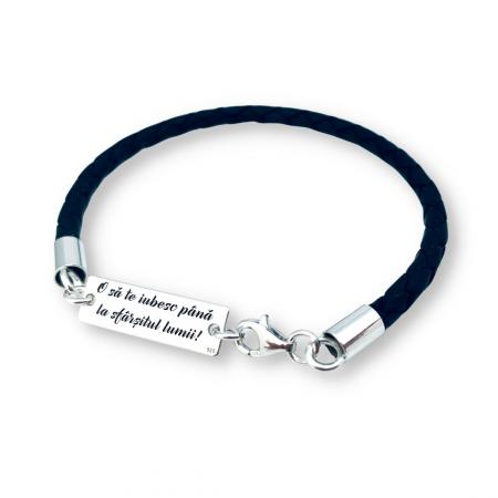 Bratari personalizate argint snur piele - Personally ME [0]
