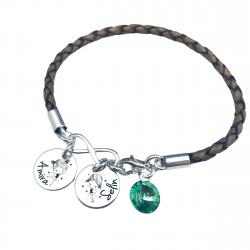 Bratara personalizata argint, charm infinit si cristal Swarovski Lovely Children1