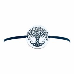 Bratara personalizata argint, snur reglabil Luck2