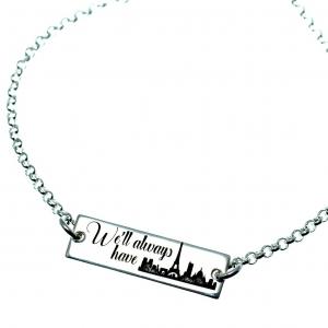 Bratara personalizata argint We'll always have Paris1