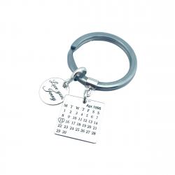 Breloc personalizat argint Calendar Love You