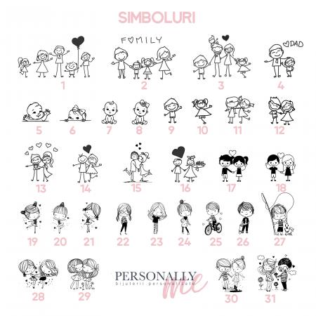 Brelocuri personalizate argint Calendar Love You [2]