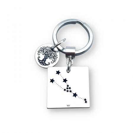 Breloc gravat cu Constelatie si simbol Copacul Vietii [0]