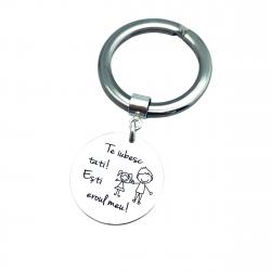 Breloc Chei Personalizat argint tata sot | Personally ME [0]