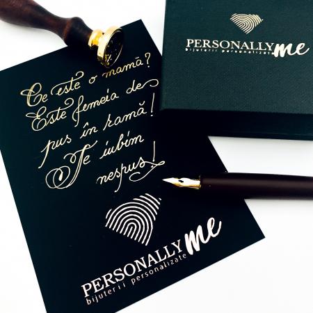 Felicitare caligrafiata cu mesaj special cadou - Prietenii sunt ca stelele...14