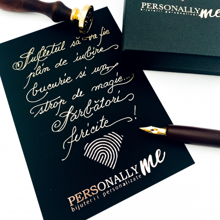 Felicitare caligrafiata cu mesaj special cadou - Sarbatori Fericite15