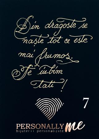 Felicitare caligrafiata mesaj special cadou zambeste [8]