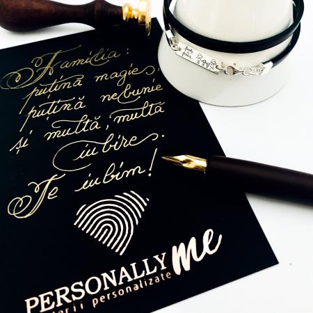 Felicitare caligrafiata cu mesaj special cadou - Prietenii sunt ca stelele...13