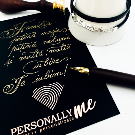 Felicitare caligrafiata cu mesaj special cadou - Sarbatori Fericite16