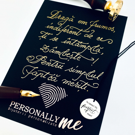 Felicitare caligrafiata cu mesaj special cadou - Sarbatori Fericite12
