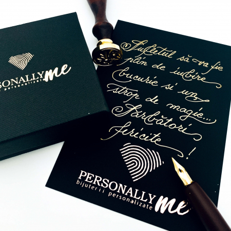 Felicitare caligrafiata cu mesaj special cadou - Sarbatori Fericite0