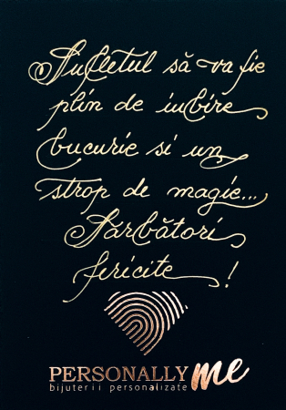 Felicitare caligrafiata cu mesaj special cadou - Sarbatori Fericite1