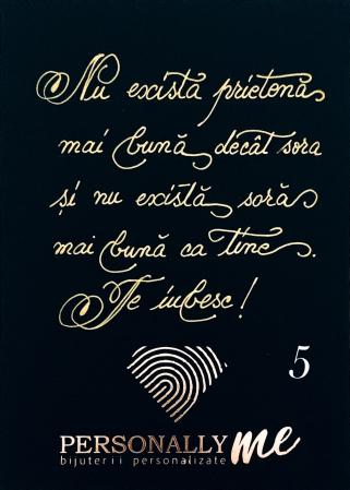 Felicitare caligrafiata cu mesaj special cadou - Prietenii sunt ca stelele...6