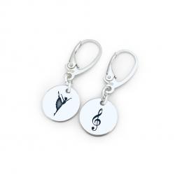 Cercei argint personalizati cu simboluri0