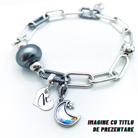 Charm argint inimioara personalizat My Love - Personally ME [2]