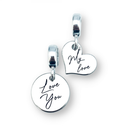 Charm argint inimioara personalizat My Love - Personally ME [1]