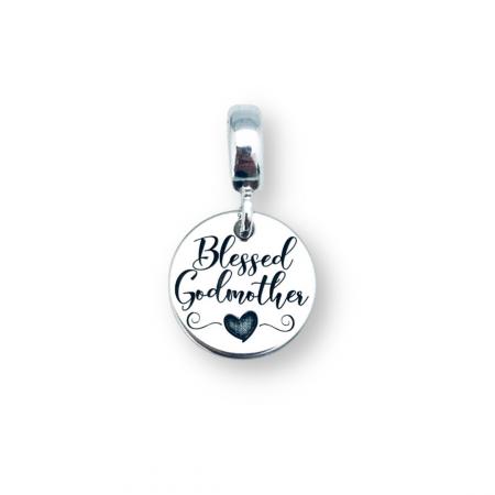 Charm argint personalizat argint bratara cadou nasa Blessed Godmother [0]