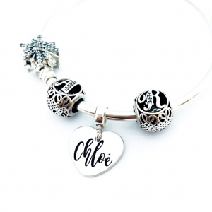 Charm argint personalizat Sisters Forever3