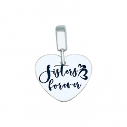Charm argint personalizat Sisters Forever0