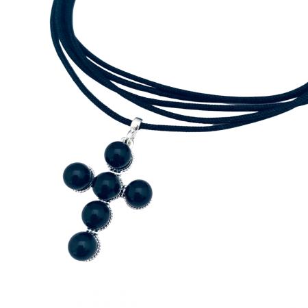 Choker pandantiv cruciulita argint cu perle - Personally ME [1]