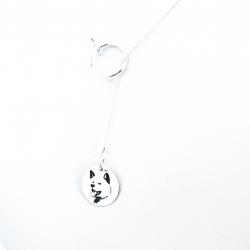 Colier argint asimetric gravat Pure Love1