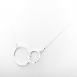 Colier argint cu pandantive cerc Connected0