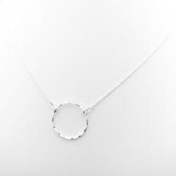 Colier argint cu pandantiv cerc Simplicity0