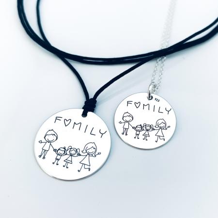 Colier argint gravat Family - Personally ME [1]