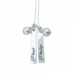 Colier argint personalizat cu placute Nume0