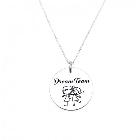 Lantisor cu banut argint personalizat Dream Team Personally ME [1]