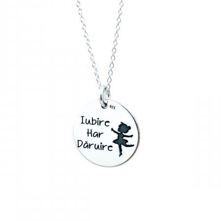Colier argint personalizat - Iubire, Har, Daruire1