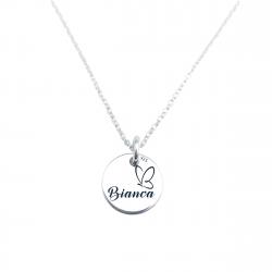 Colier argint personalizat gravat cu simbol Happy Family1