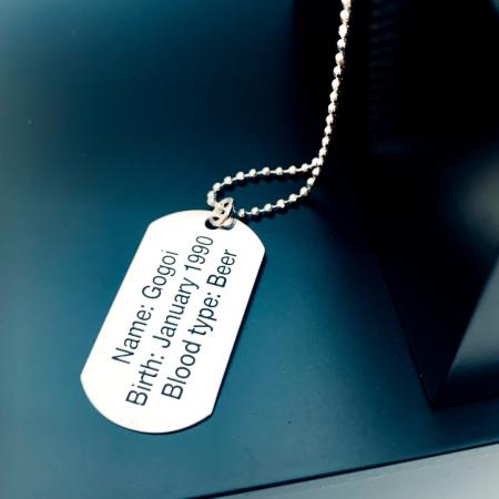 Colier placuta Army argint personalizat pentru barbati Personally ME [0]