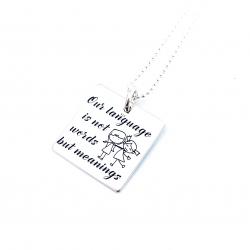 Colier argint gravat Meanings0