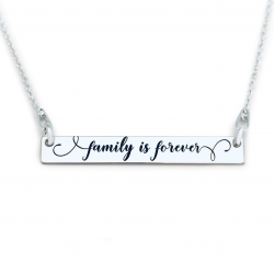 Colier argint personalizat Family is Forever0