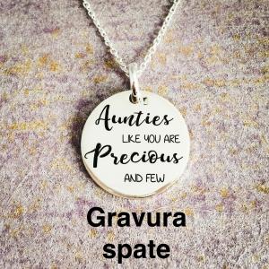 Colier argint personalizat Precious Aunties2