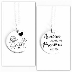 Colier argint personalizat Precious Aunties0