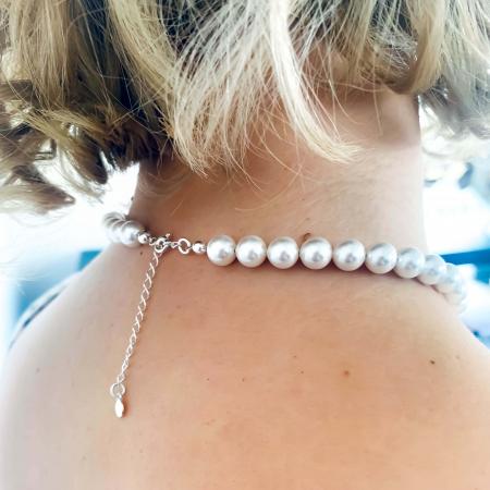 Colier personalizat argint cu perle swarovski - Be like the Moon3