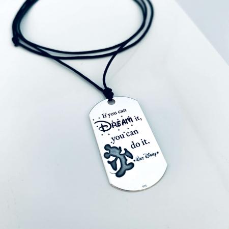 Colier placuta Army argint personalizat pentru barbati - Personally ME [0]
