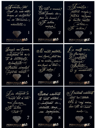 Felicitare caligrafiata cu mesaj special cadou - Prietenii sunt ca stelele...1