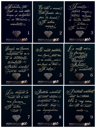 Felicitare caligrafiata cu mesaj special cadou - Sarbatori Fericite11