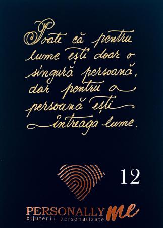 Felicitare caligrafiata mesaj special cadou zambeste [13]