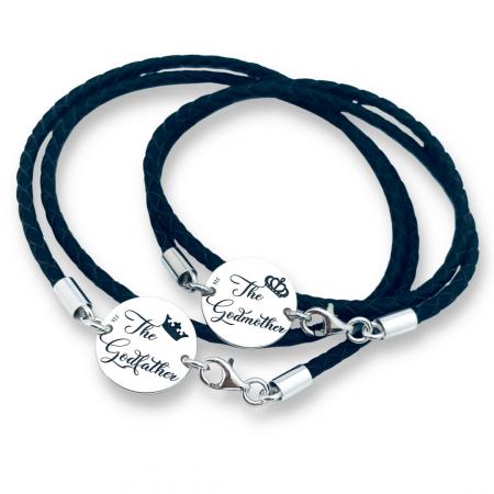 Cadou Personalizat Nasi bratari personalizate Argint& Piele [0]